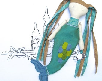 Mermaid Doll PDF Sewing Pattern