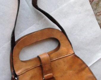 "WAbags REtired Handbag Genuine Leather Shoulder Bag, Brown Vintage  8"" X 13"" Will fit everything  On SaLe Now"