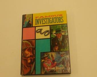 Vintage Famous Investigators Whitman Book Real Life Stories Richard Deming Juvenile Fiction