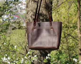 Leather Tote Bag  Leather Bag  Women Tote Bag