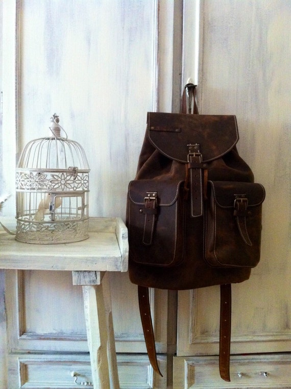 Large Backpack 50cm / 31cm/ 20cm Leather Backpack, BackPack,School BackPack,school rucksack, Handmade Man BackPack, Overnight