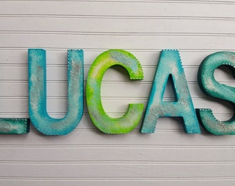 Name Wall Letters - Nursery Letters Boy - Nursery Letters Girl - Kids Name Art - Nursery Name Letters - Baby Name Letters