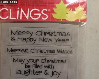 Hero Arts Jolly Holiday Wishes