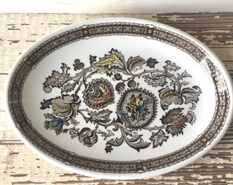 Ridgway Irornstone Stafforshire Jacobean Small Oval Platter