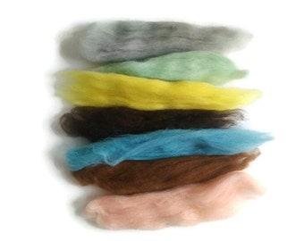 Wool Samples - Wool Roving Packs - Needle Felting Wool - Wet Felting Wool - Wool for Felting - Wool Felt Samples