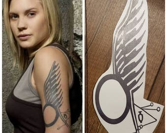 Starbuck battlestar galactica temporary tattoo cosplay costume Kara Thrace commander