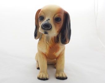 Very nice statue of puppy stype Spaniel or spaniel. Ceramic. 60s. Very nice look. Very good condition
