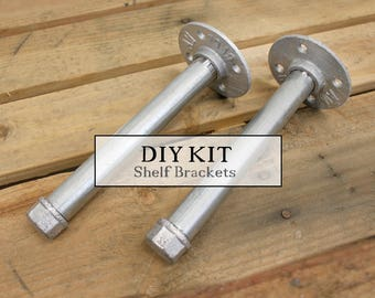 Industrial Pipe Hardware Shelf Bracket Kit