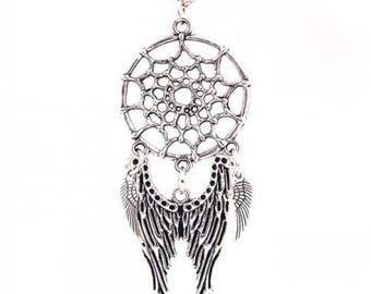 Woman Lady Dream Catcher Pendant Angel Wings Eagle Bead Choker Necklace Jewelry