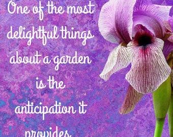 Garden anticipation digital printable