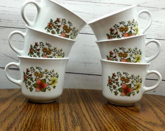 Vintage Corelle Indian Summer Mugs - Set of 6