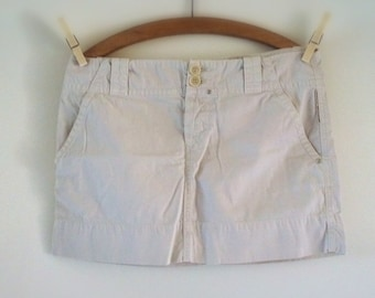 Mini skirt, vintage skirt, woman, grey,country chic 90s