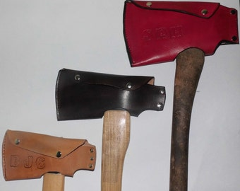 Personalized Axe Cover Leather . Ax