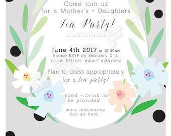 Tea Party - Baby Shower - Wedding Shower Invitation