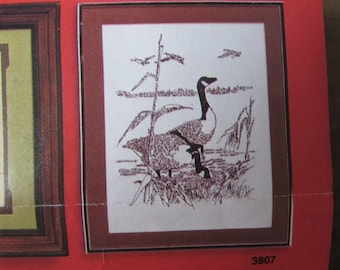 Geese Embroidery Kit Artcraft Concepts Canadian Geese No. 3807 1978