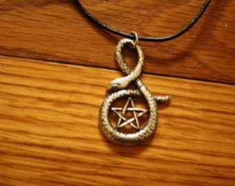 Serpent and Pentacle Necklace  witch - hoodoo - magic - ritual - necklace - pendant - charm