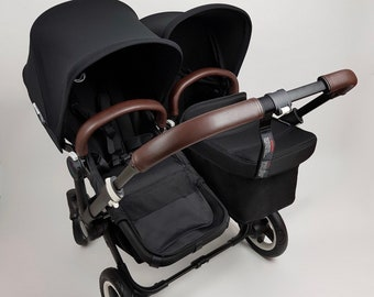 Genuine Leather handle bar cover & Bumper Bar cover for Bugaboo Donkey Mono Duo Twin .