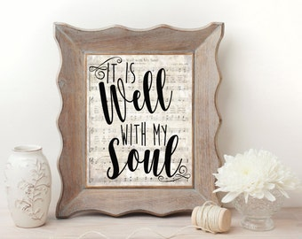 It Is Well With My Soul Hymn Wall Art