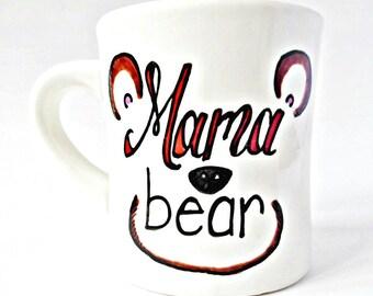 Mama Bear Mug, Mom Mug, Pregnant Mug, Funny Wife Mug, New Mom Gift, funny mugs for women, mother, new baby gift, baby shower gift, pregnancy