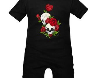 Baby romper: original skull