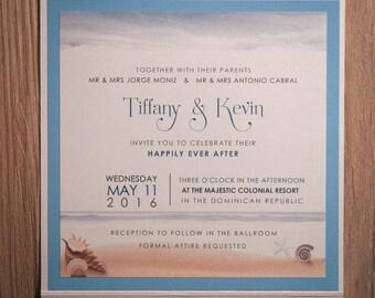 Beach Wedding Invitation, beach Wedding Invitations, Beach Invitation, Destination Invitations, Beach invitations, destination invitation