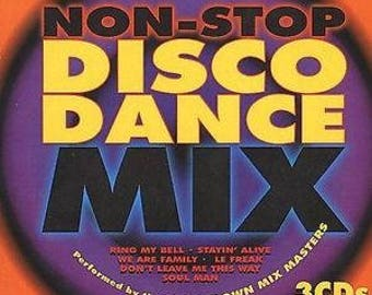 Non Stop Disco Dance Mix Countdown Mix Masters 1997 Dance Music CD 3 Discs Madacy Car Wash Ring My Bell Le Freak Disco Inferno