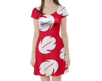 Lilo Lilo and Stitch Inspired Short Sleeve Skater Dress