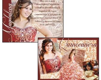 Quinceanera Invitation Sweet 15 Invitations Mis Quince Anos Invite Invitaciones Quince Invitation Quinceanera