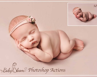 BabyBloom Newborn/Baby/Child Photoshop Actions - Essential Collection of 30 easy to use PS Actions inc *FREE* Essential  B/W