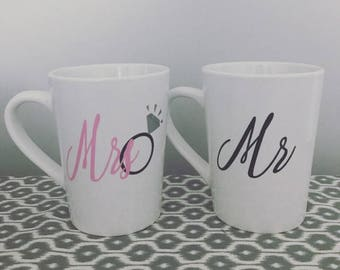 Wedding Gift - Bride and Groom - Mr and Mrs Mugs