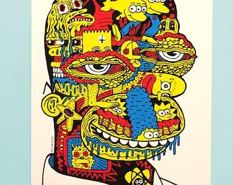 Evil Homer Screen Print