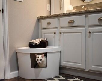 Kitangle Corner Kitty Litter Box