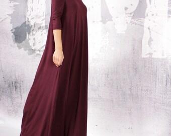 Long Dress , Long party dress , A line long dress , Maxi dress , bare shoulders dress , Comfortable elegant dress by UrbanMood - UM-066-VL