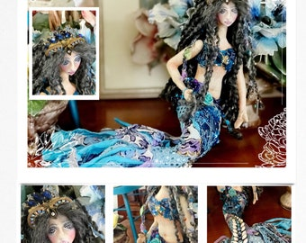 Mermaid Cloth Doll PDF Pattern and Tutorial