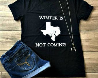 Winter in TX - shirt, game of thrones, GOT, jon snow, summer, hot, texas