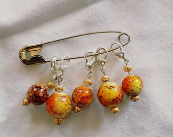 Removable Stitch Markers - Leopard