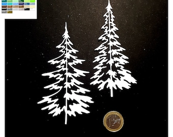 cut scrapbooking: duo of Christmas trees