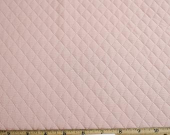 Blush Quilt Knit Diamond Jacquard Stretch Fabric by the Yard - 1 Yard Style 471