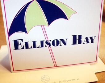 Ellison Bay Blank Note Card