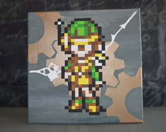 Lucca from Chrono Trigger Painting