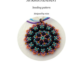 Auriga Pendant - Beading Pattern/Tutorial - PDF file for personal use only