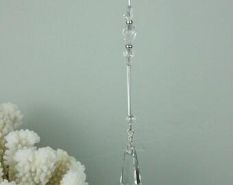 Crystal Icicle, Crystal Ornament, Christmas, Crystal decoration