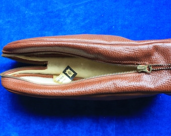 Cooper Weeks Zippered Lined Leather Bag - New