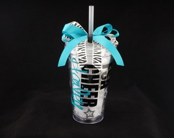 Deluxe Personalized Cheerleading Tumbler Cup