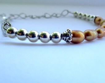 Pearl Bracelet, Fresh Water Bracelet, Golden Pearl Bracelet, Pearl Jewelry SALE