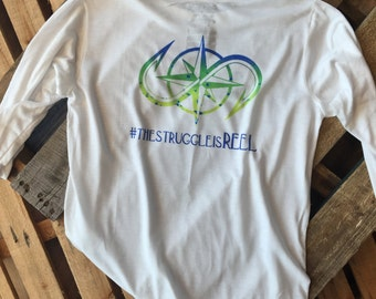 Salty Obsession Long Sleeve Mahi Logo Youth Shirt | Fishing Apparel | Boys | Performance Wear