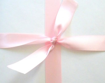 "Blush Pink Double Faced Satin Ribbon, 5 Yards of 7/8"" Ribbon, Double Sided"