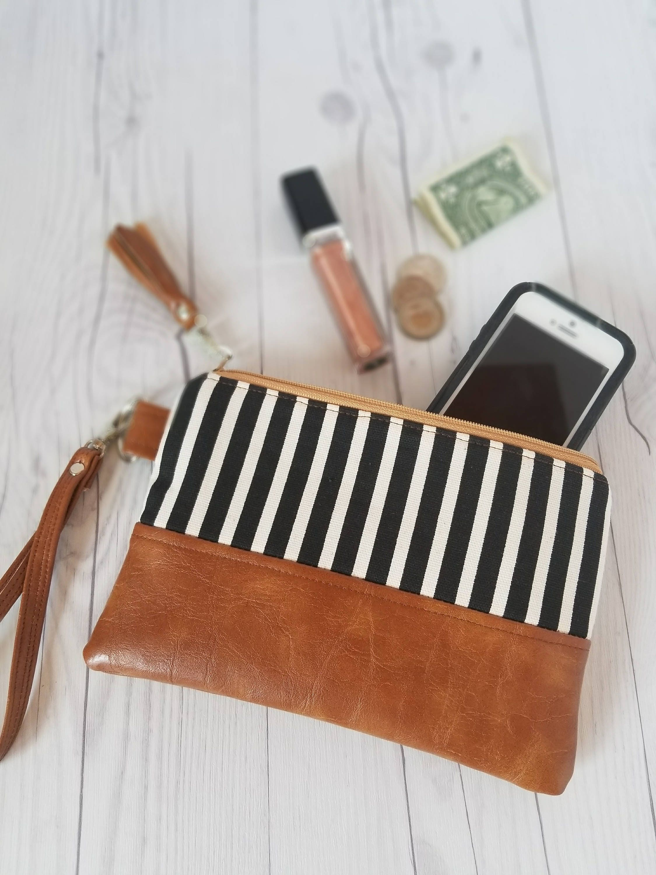 163d84681737 Black And White Striped Womens Wallet | Stanford Center for ...