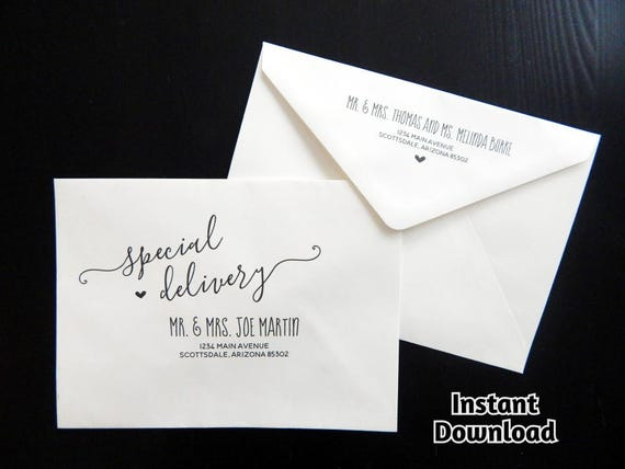 Wedding Envelope Template Printable Envelope Address