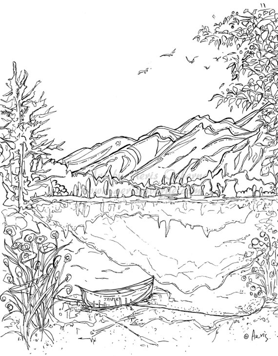 desert landscape coloring pages printable - photo#18